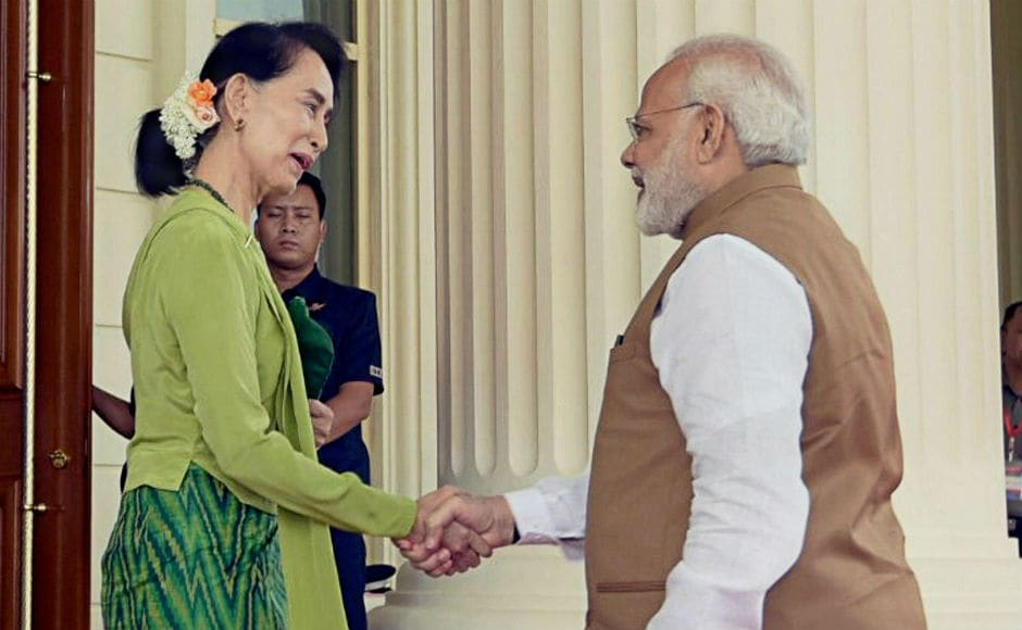 Modi also held wide-ranging talks with Myanmar's state counsellor Aung San Suu Kyi on Wednesday. The prime minister's visit to Myanmar comes amid a spike in ethnic violence with Rohingya Muslims in the Rakhine state. PTI