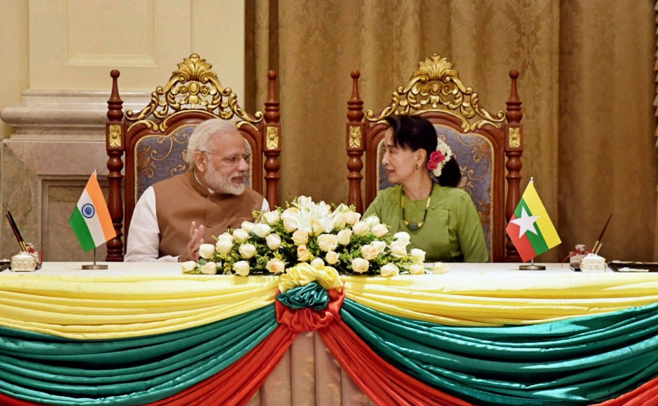 India and Myanmar are looking at strengthening existing cooperation in areas of security and counter-terrorism, trade and investment, infrastructure and energy, and culture, Modi had said ahead of his visit. PTI