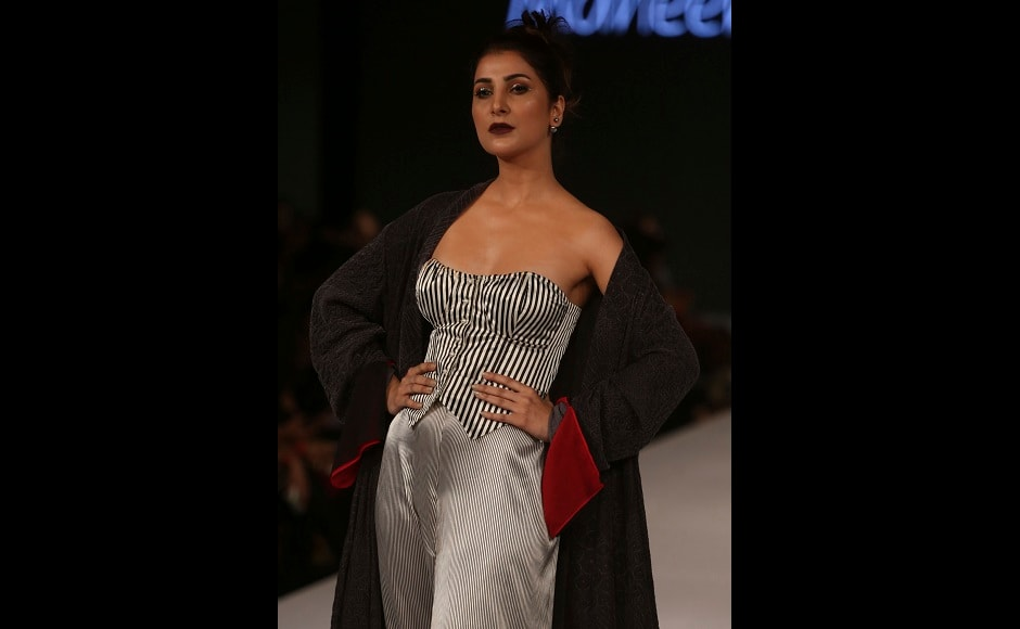 Maheen Khan's designs were an amalgamation of quirk and class at the Pakistan Spring/Summer 2017 Fashion Show Week in Karachi, Pakistan. Image courtesy: AP/Shakil Adil
