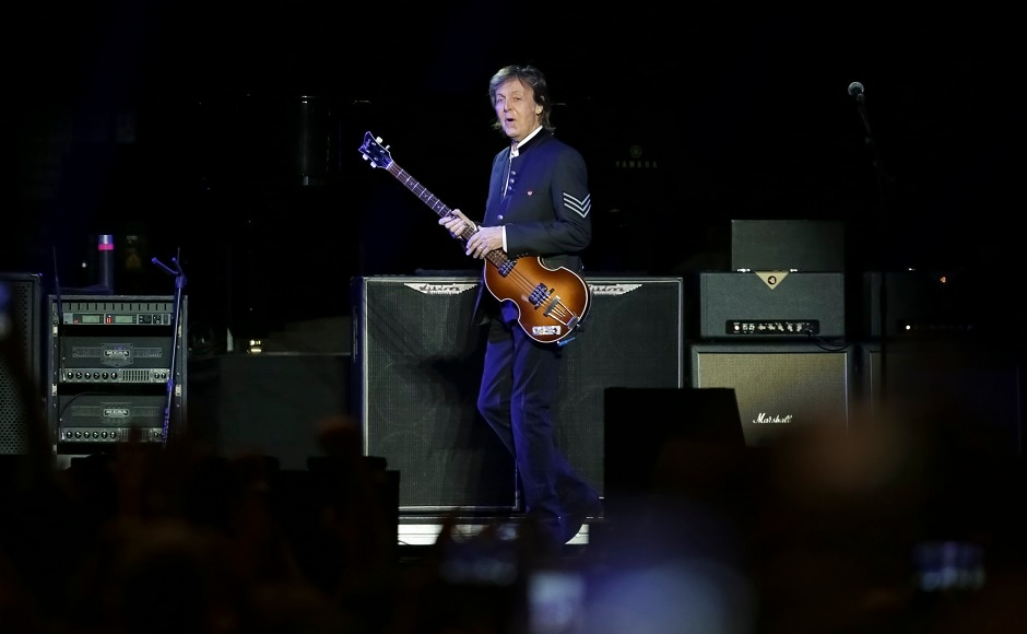Paul McCartney performs in Newark as part of One on One tour