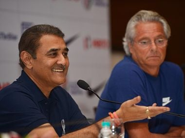FIFA U-17 World Cup Local Organising Committee chairman Praful Patel addresses a press conference ahead of the tournament. Image courtesy: Twitter @IndianFootball