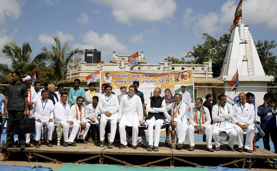 Gandhi came down heavily on Gujarat's BJP government on the issue of privatisation. He alleged the government has snatched the right of affordable education and health from the poor by introducing privatisation. PTI