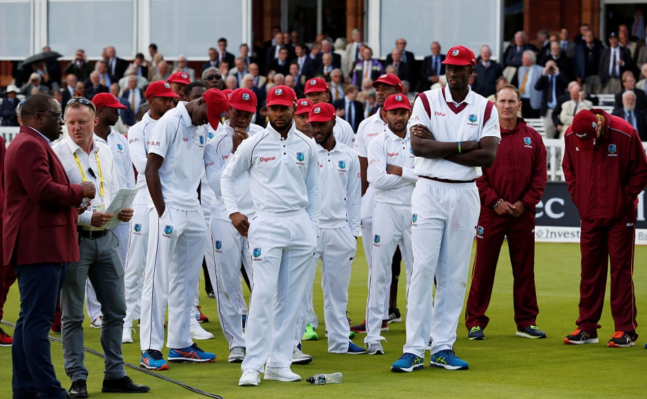 West Indies players failed to show the fight they did in the 2nd Test at Edgbaston, went down very easily and were outclassed by England. Reuters