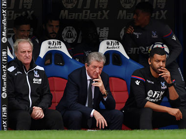 """Soccer Football - Premier League - Crystal Palace vs Southampton - Selhurst Park, London, Britain - September 16, 2017 Crystal Palace manager Roy Hodgson and assistant manager Ray Lewington Action Images via Reuters/Tony O'Brien EDITORIAL USE ONLY. No use with unauthorized audio, video, data, fixture lists, club/league logos or """"live"""" services. Online in-match use limited to 75 images, no video emulation. No use in betting, games or single club/league/player publications. Please contact your account representative for further details. - RC184D6E3890"""