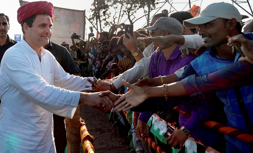 Congress vice president Rahul Gandhi meets supporters during his visit to Dwarka in Gujarat. PTI