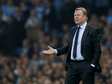 File image of Everton manager Ronald Koeman. Reuters