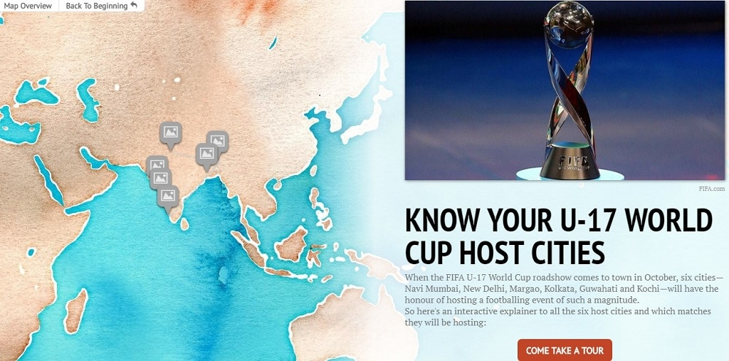 FIFA U17 World Cup 2017 An interactive look at the six venues to