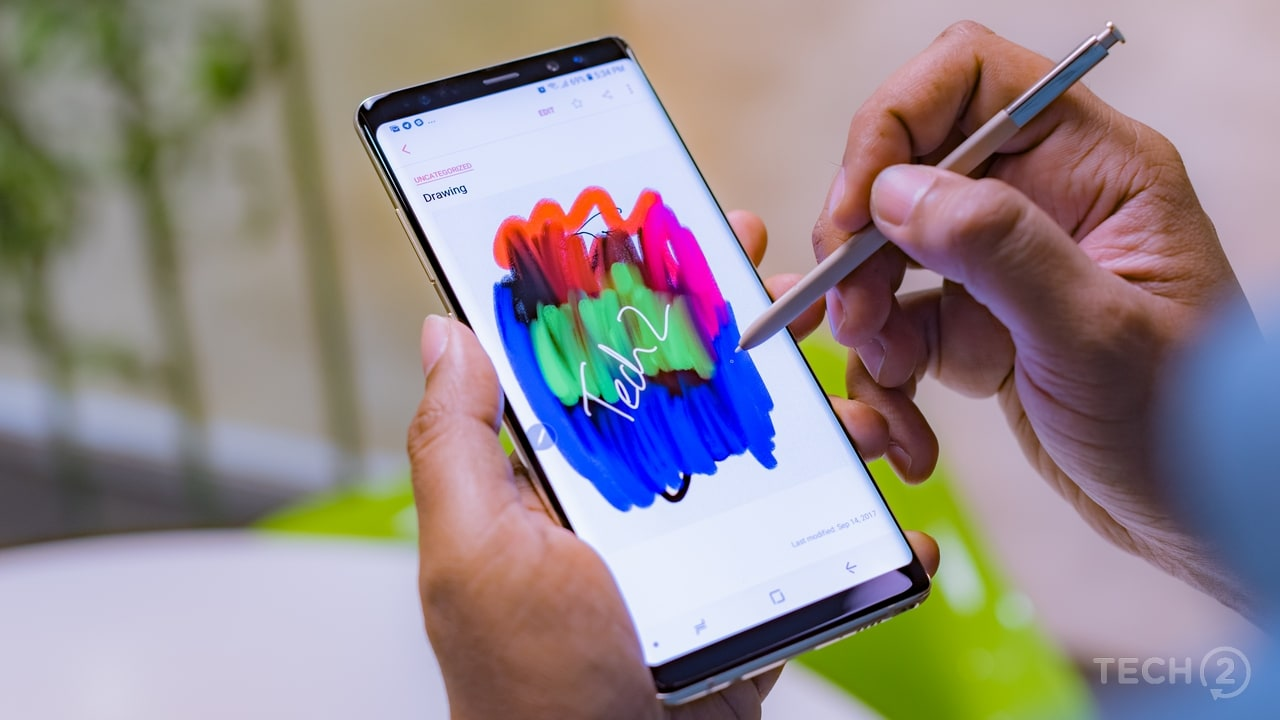 The S-Pen was an added bonus. Image: Tech2/Rehan Hooda