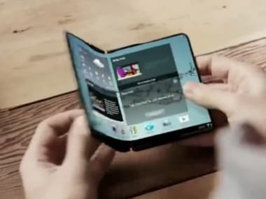 Samsung's in-folding smartphone concept