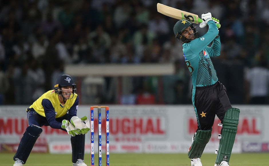 Pakistan batsman Shoaib Malik, too, continued his brilliant form and demolished the World XI bowlers during his 23-ball 39 run knock. AFP
