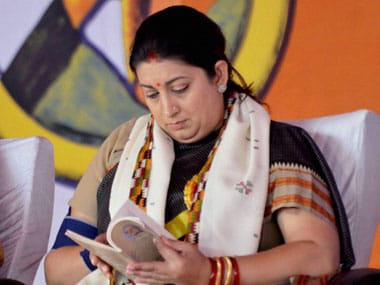File image of Union minister Smriti Irani. PTI