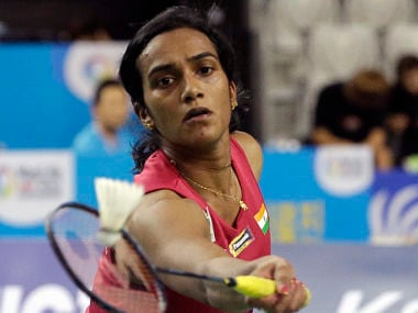 India's PV Sindhu returns a shot against Japan's Nozomi Okuhara during women's single final match at the Korea Open Superseries final. AP