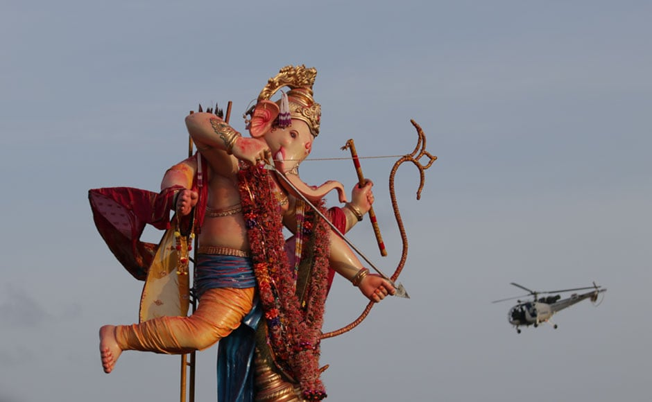This year, the Maharashtra Tourism Development Corporation had made special arrangements for domestic and international tourists to view the immersion ceremonies at Girguam and other places as part of its new intiaitive — Ganeshotsav Tourism. Image courtesy Sachin Gokhale/Firstpost