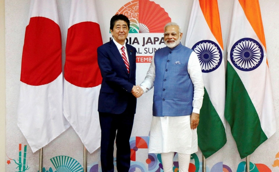 After signing the MoUs with Modi, Abe would visit exhibition booths at Mahatma Mandir and India-Japan Business Plenary at Mahatma Mandir. PTI