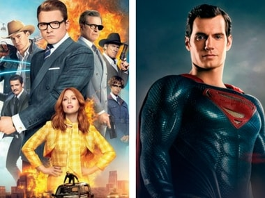Kingsman: The Golden Circle poster (left); DC's Man of Steel featuring Henry Cavill (right). Image courtesy: Facebook