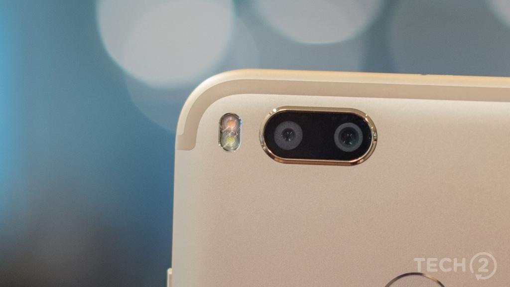 Dual rear camera setup on the Xiaomi Mi A1. Image: Tech2/Rehan Hooda