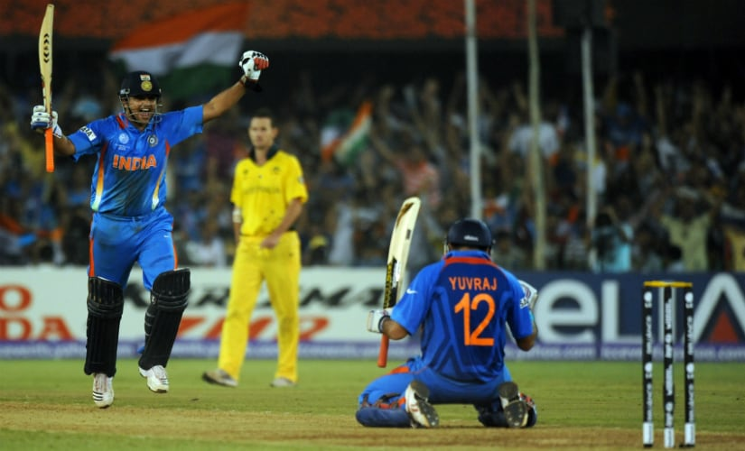 India ended Australia's 12-year monopoly at the 2011 World Cup quarter-final. AFP