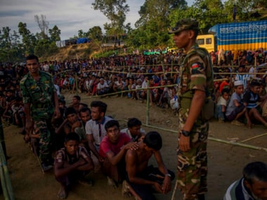 Rohingya migrants in Bangladesh. AP