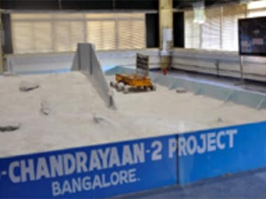 The rover being tested at a facility in Bengaluru. Image: ISRO.