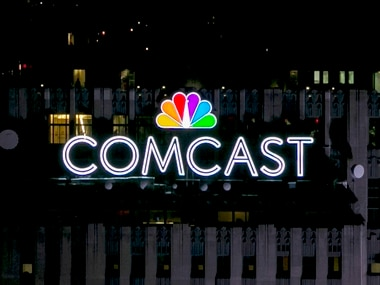 The NBC and Comcast logo. Reuters