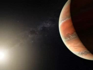 Artist's impression showing the exoplanet WASP-19b