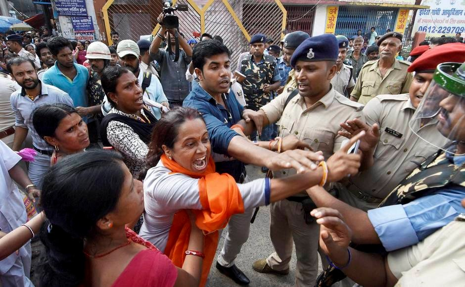 Police officials on Tuesday detained the nurses and attendants of the Indira Gandhi Institute of Medical Sciences, who were protesting for the release of their salaries, in Patna. PTI