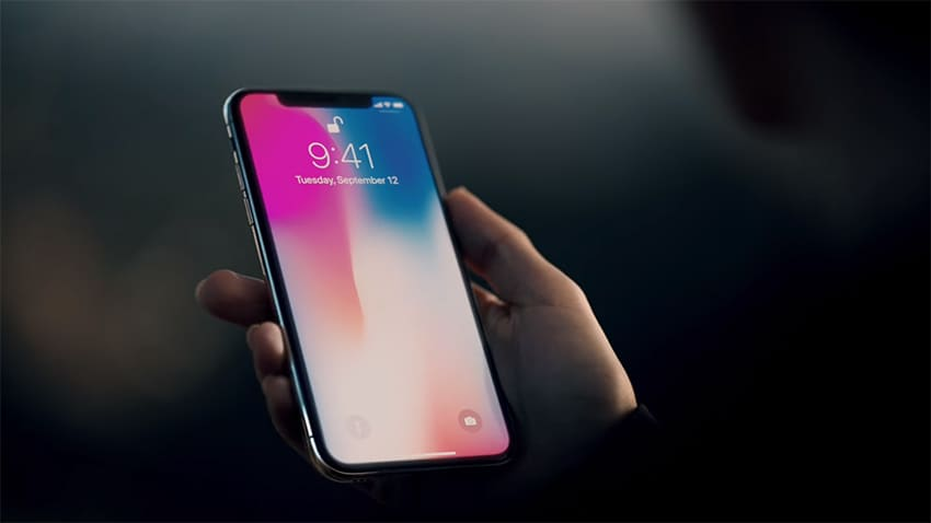 Using FaceID to unlock your phone. Image: Apple.