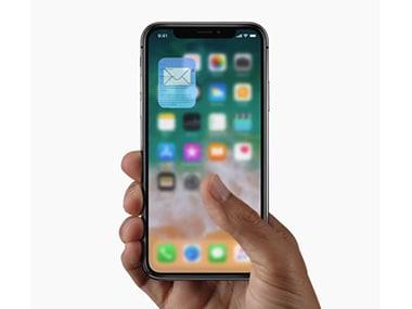 Swipe up to close. Image: Apple.