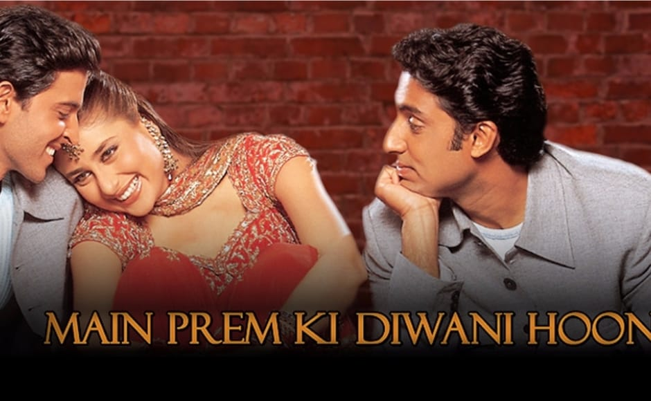 Apart from having the most acting to ever be seen in any Bollywood movie till date, Mein Prem Ki Diwani Hoon not only gave Kapoor a memorable role in the form of Sanjana, but also gave us our most beloved CGI parrot. Poster of Mein Prem Ki Diwani Hoon.