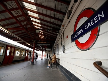 Parsons Green station after the blast. Reuters