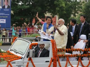 File image of Narendra Modi and Shinzo Abe. AP