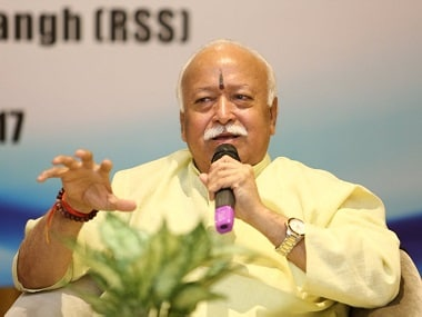 Mohan Bhagwat at the event. Twitter @indfoundation