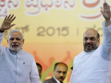 A file image of Prime Minister Narendra Modi with BJP chief Amit Shah. AFP