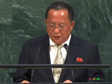 North Korea's foreign minister at the United Nations General Assembly. Reuters