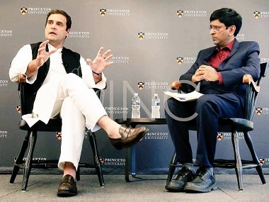 Rahul Gandhi at Princeton University. Image coutesy: Twitter @OfficeofRG