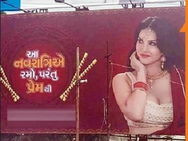 The Sunny Leone advertisement which created a controversy. Image courtesy: Twitter/ @PTInews