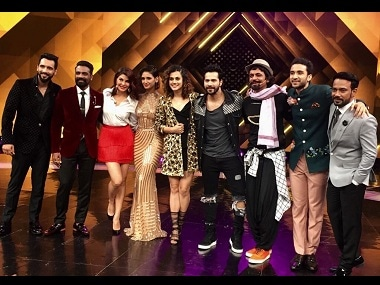 The team of Judwaa 2 with Dance Plus members. Image from Twitter/ Varun Dhawan