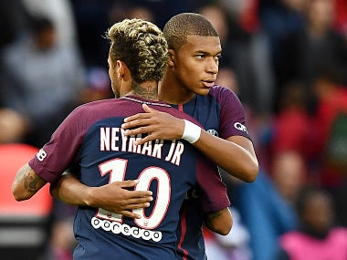 File image of Neymar and Kylian Mbappé. AFP
