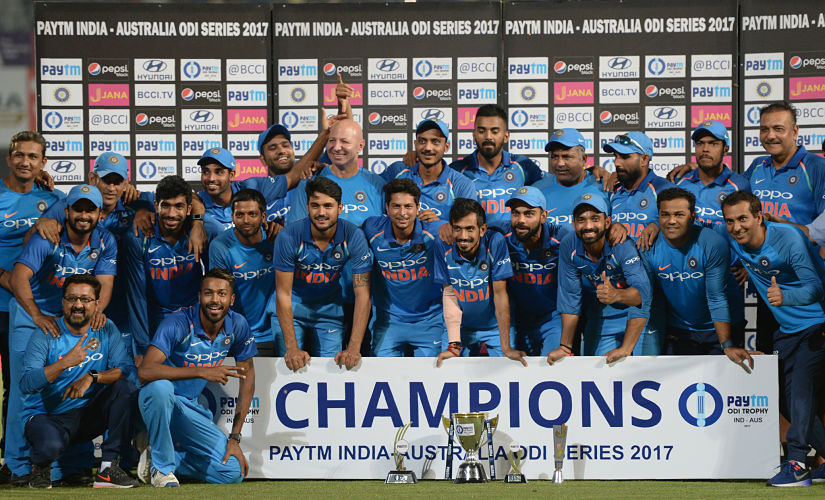 Virat Kolhi led his side to their fourth bilateral series win in 2017. After 4-1 series win India claim the top spot in ICC ODI rankings. AFP