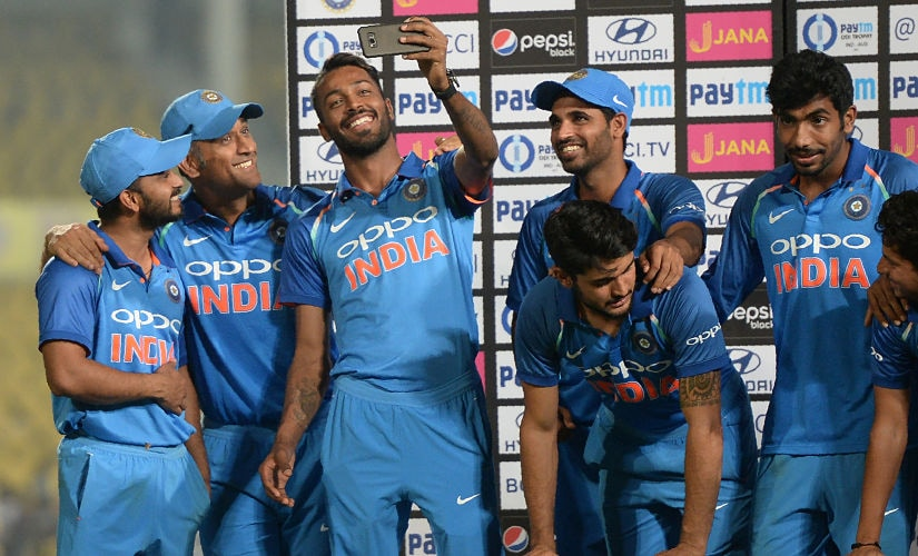 All smiles in the end as an a complete team effort from India beat rivals Australia in 5-match ODI series. AFP