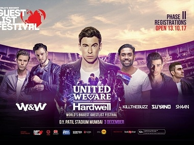 W&W, Hardwell, Kill The Buzz, Suyano and Shaan.