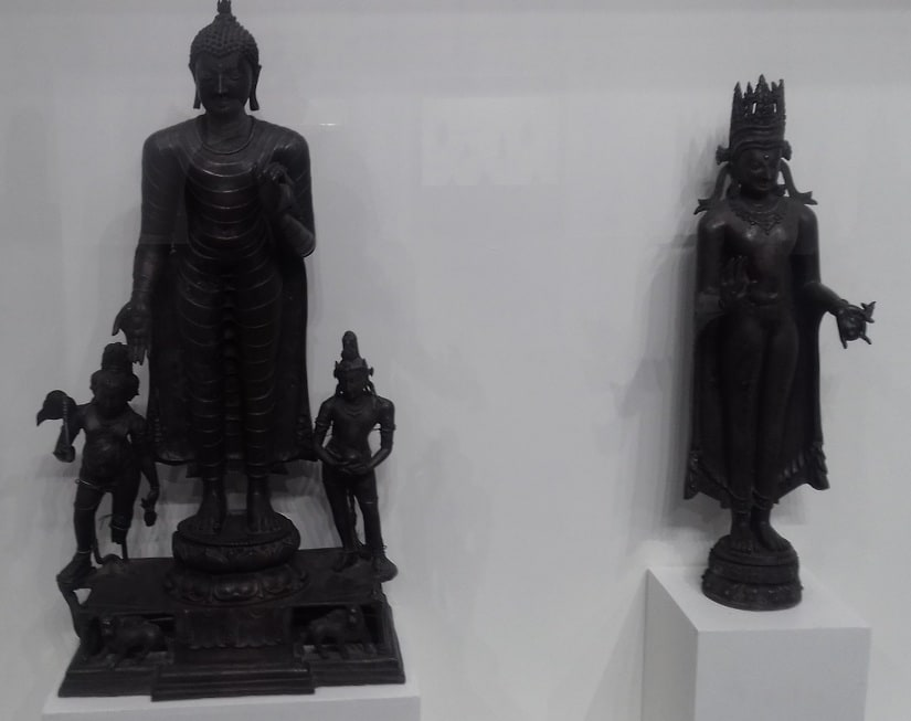 At the Bihar Museum. Photos courtesy the writer