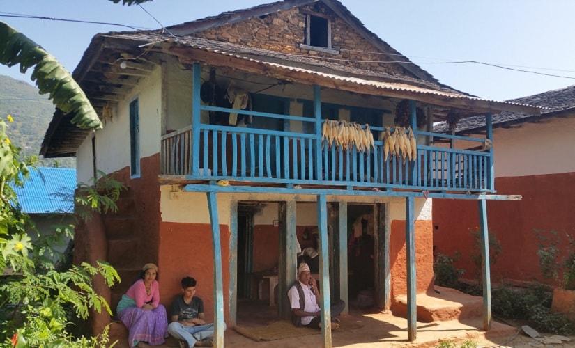 Khumkala with her son Prajwol at their home in. Firstpost/ Reecha Aryal