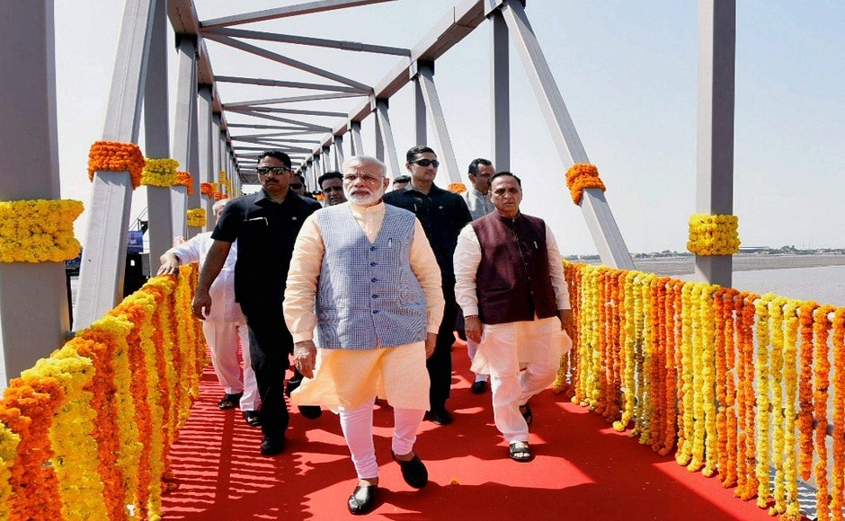 Modi, who is visiting the state for the third time this month, also took the first trip in the ferry from Ghogha to Dahej with 100 visually-impaired children from Bhavnagar.