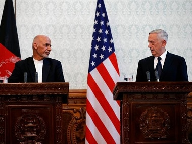 Afghan president Ashraf Ghani and US defense secretary Jim Mattis. Reuters