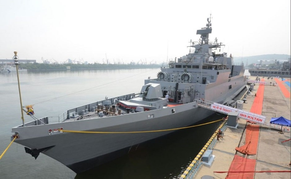 Kiltan is the latest indigenous warship after Shivalik class, Kolkata class and sister ships INS Kamorta and INS Kadmatt to have joined the Indian Navy's arsenal. Image courtesy: Twitter/@DefenceMinIndia