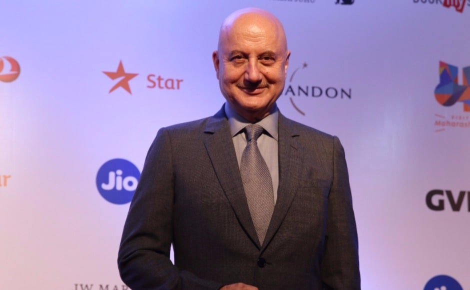 Newly minted FTII chairman Anupam Kher was seen on the MAMI red carpet with his 'Ranchi Diaries' co-stars