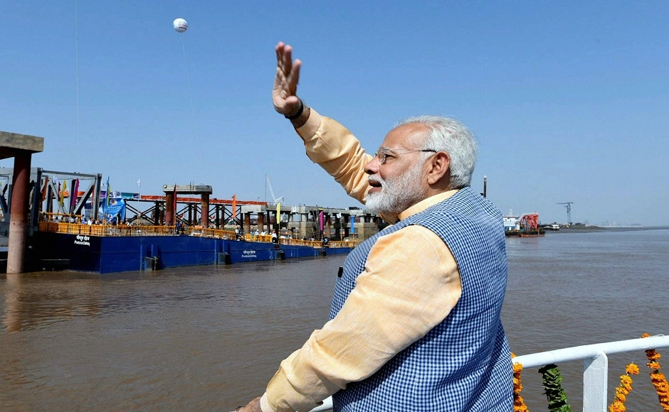 The prime minister said that national waterway project will be more than 17,000 kilometre long and will be a revolutionary project for the fishermen in Gujarat. He said that inter-state waterway and coastal transport services will be integrated in the future. PTI