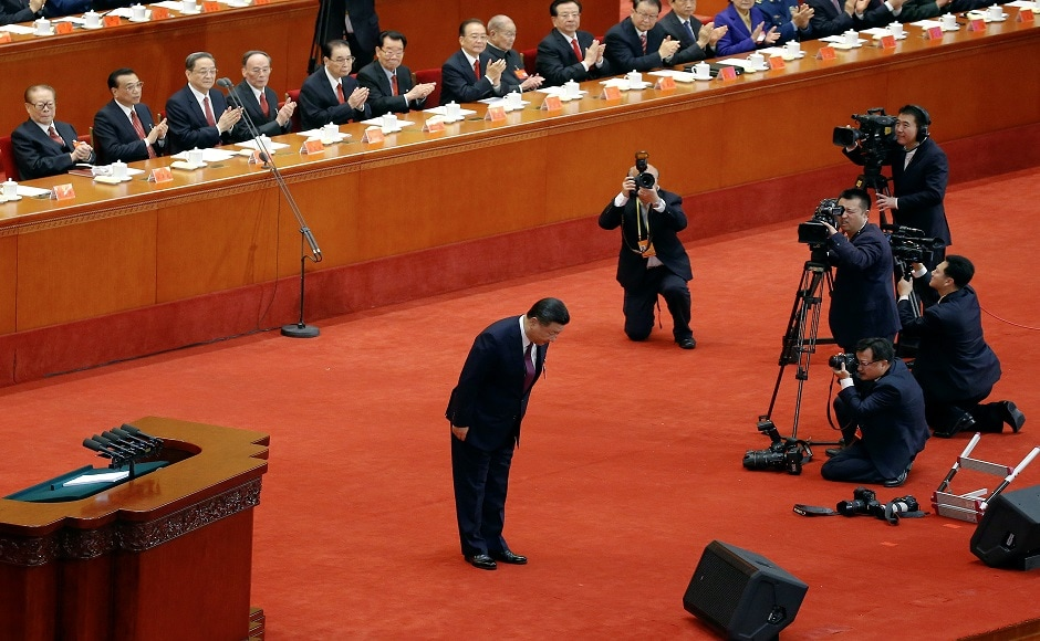 """""""Through a long period of hard work, socialism with Chinese characteristics has entered a new era, this is a new historical direction in our country's development,"""" Xi said in a speech carried live across the nation on state television. Reuters"""