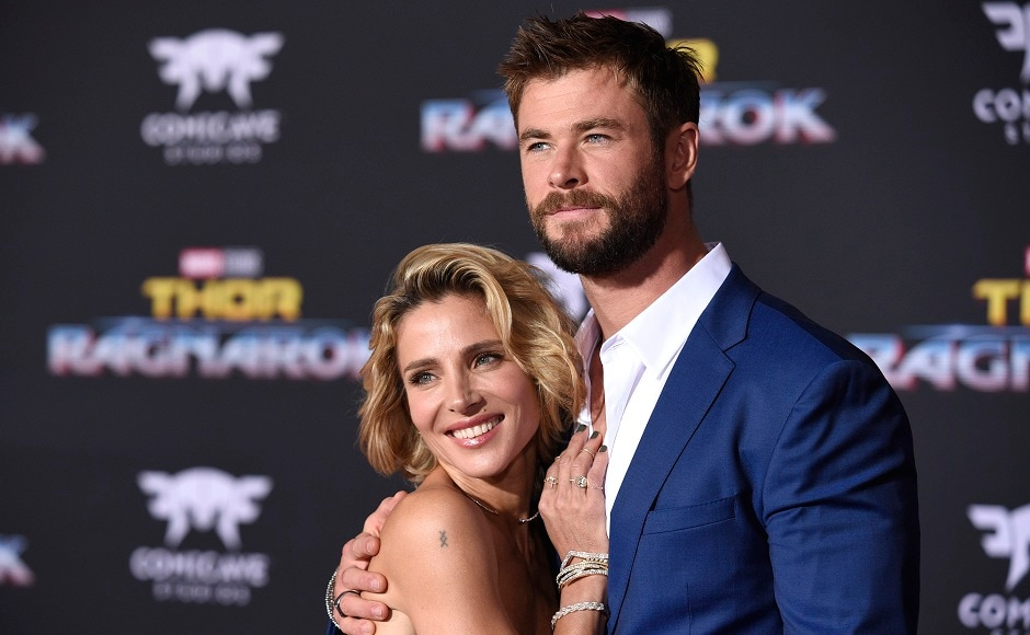 Elsa Pataky (left), and Chris Hemsworth arrive at the world premiere of Thor: Ragnarok at the El Capitan Theatre on Tuesday, 10 October, 2017, in Los Angeles. Photo courtesy: AP/Chris Pizzello